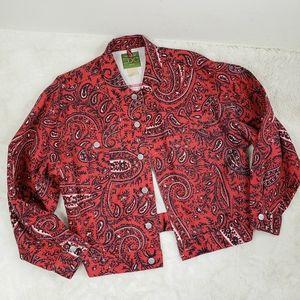 Vintage 90s ESPIRT Western Bandana print jacket